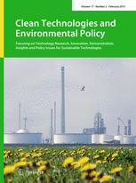Clean Technologies and Environmental Policy
