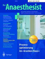 springerlink der anaesthesist Der anaesthesist: zeitschrift fuer anaesthesie, intensivmedizin, notfall- und katastrophenmedizin, schmerzmedizin.