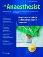 der anaesthesist springerlink Libnews highlights events the issue accessing springerlink titles has been fixed anaesthesist (der anaesthesist.