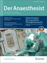 der anaesthesist springerlink