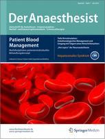 springer anaesthesist Get this from a library der anaesthesist [Österreichische gesellschaft für anästhesiologie und reanimation deutsche gesellschaft für anaesthesie und.