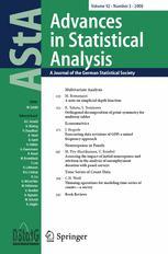 AStA Advances in Statistical Analysis