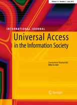 Universal Access in the Information Society