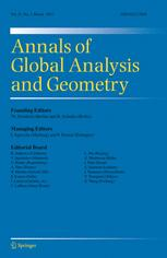 Annals of Global Analysis and Geometry