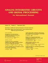 Analog Integrated Circuits and Signal Processing