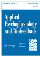 Applied Psychophysiology and Biofeedback