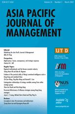 Asia Pacific Journal of Management