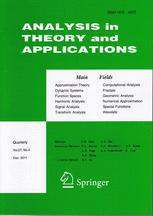 Approximation Theory and Its Applications