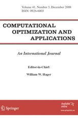 Computational Optimization and Applications