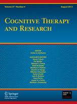 Cognitive Therapy and Research 4/2013