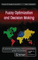Fuzzy Optimization and Decision Making