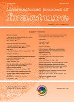 International Journal of Fracture Mechanics