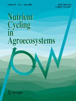 Nutrient Cycling in Agroecosystems