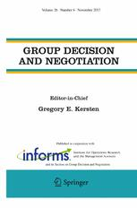 Group Decision and Negotiation 6/2017
