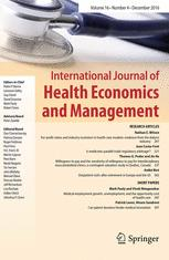International Journal of Health Economics and Management