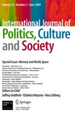 International Journal of Politics, Culture, and Society IJPS