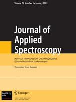 Journal of Applied Spectroscopy