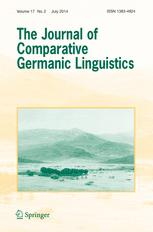 The Journal of Comparative Germanic Linguistics