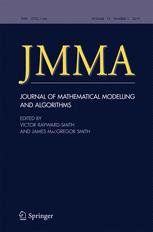 Journal of Mathematical Modelling and Algorithms in Operations Research