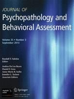 Journal of behavioral assessment