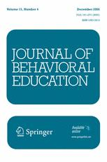 Journal of Behavioral Education