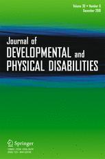 Journal of Developmental and Physical Disabilities