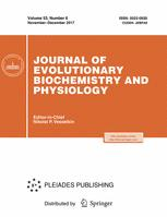 journal of evolutionary biochemistry and physiology springer journal of evolutionary biochemistry and physiology