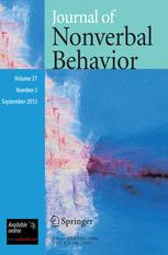 Journal of Nonverbal Behavior