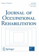 Journal of Occupational Rehabilitation