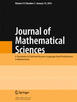 Journal of Mathematical Sciences