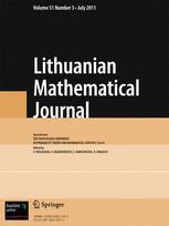 Lithuanian Mathematical Journal