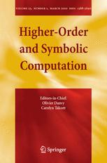 Higher-Order and Symbolic Computation