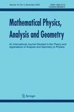 Mathematical Physics, Analysis and Geometry