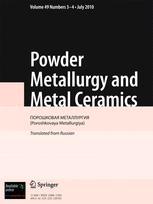 Powder Metallurgy and Metal Ceramics