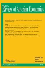 The Review of Austrian Economics