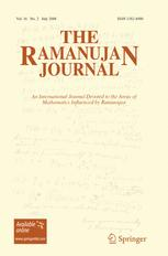 The Ramanujan Journal