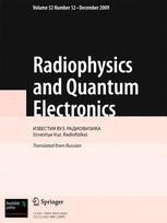 Radiophysics and Quantum Electronics