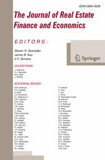The Journal of Real Estate Finance and Economics