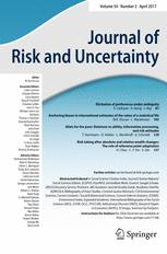 Journal of Risk and Uncertainty
