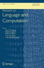 Research on Language and Computation