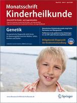 Monatsschrift Kinderheilkunde Zeitschrift für Kinder- und Jugendmedizin