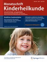 Monatsschrift Kinderheilkunde