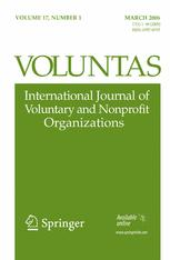 Voluntas: International Journal of Voluntary and Nonprofit Organizations