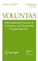Voluntas: International Journal of Voluntary and Nonprofit Organizations
