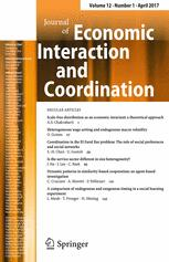 Journal of Economic Interaction and Coordination 1/2017