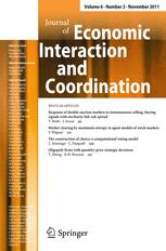 Journal of Economic Interaction and Coordination