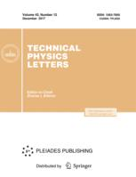 Technical Physics Letters
