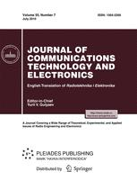 Journal of Communications Technology and Electronics