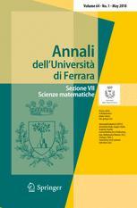 ANNALI DELL'UNIVERSITA' DI FERRARA