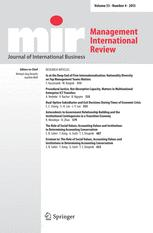 Management International Review cover image